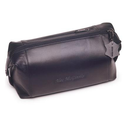 Personalized Leather Travel Shaving Travel Bag