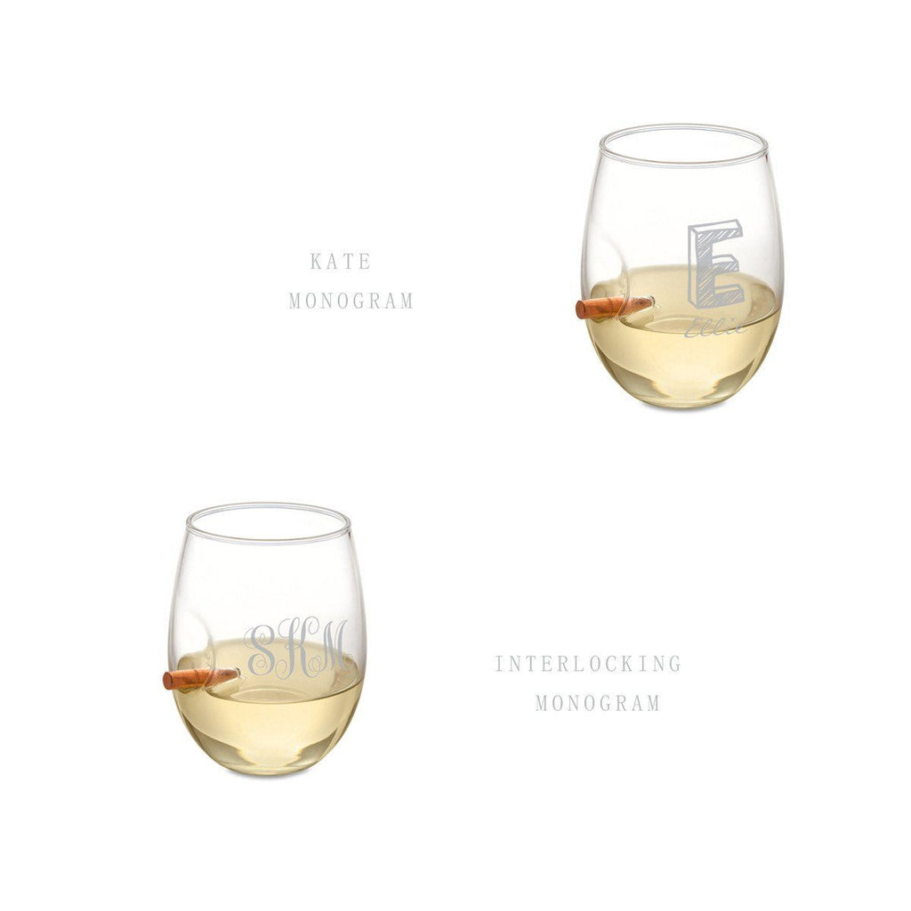Personalized Bridesmaid Bulletproof Wine Glass