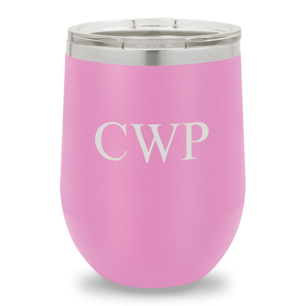 Personalized Wine Tumbler - 12 oz. - Insulated - Light Purple
