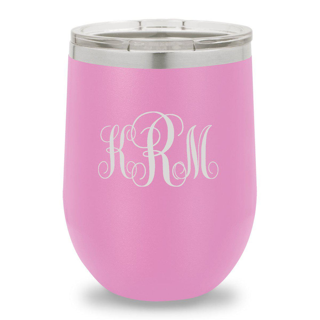 Personalized Bridesmaid Insulated Wine Tumbler 12 oz. - Light Purple