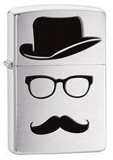 Personalized Zippo Mustache and Hat Lighter
