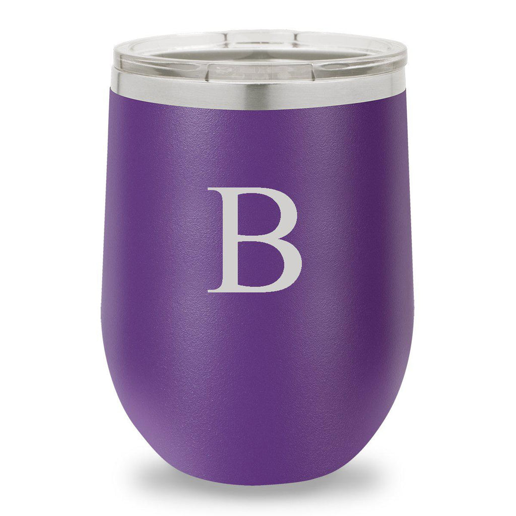 Personalized Húsavík Wine Tumbler - 12 oz. - Insulated - Purple