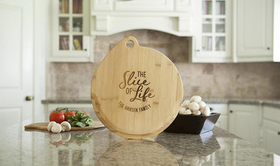 Personalized Bamboo Pizza Boards