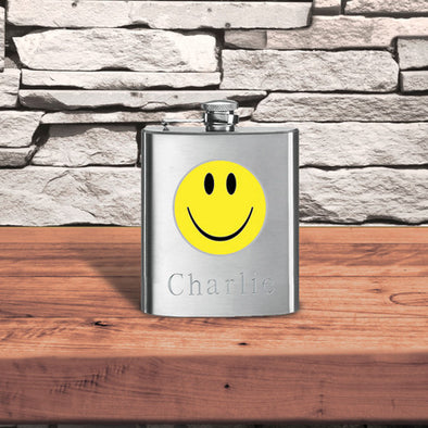 Personalized Fun Print Flask-HappyFace-