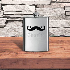 Personalized Fun Print Flask-Groomsmen Gifts