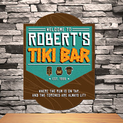 Personalized Tiki bar Sign