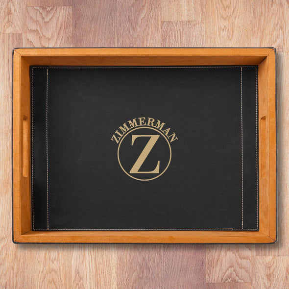 Personalized Serving Tray - Black