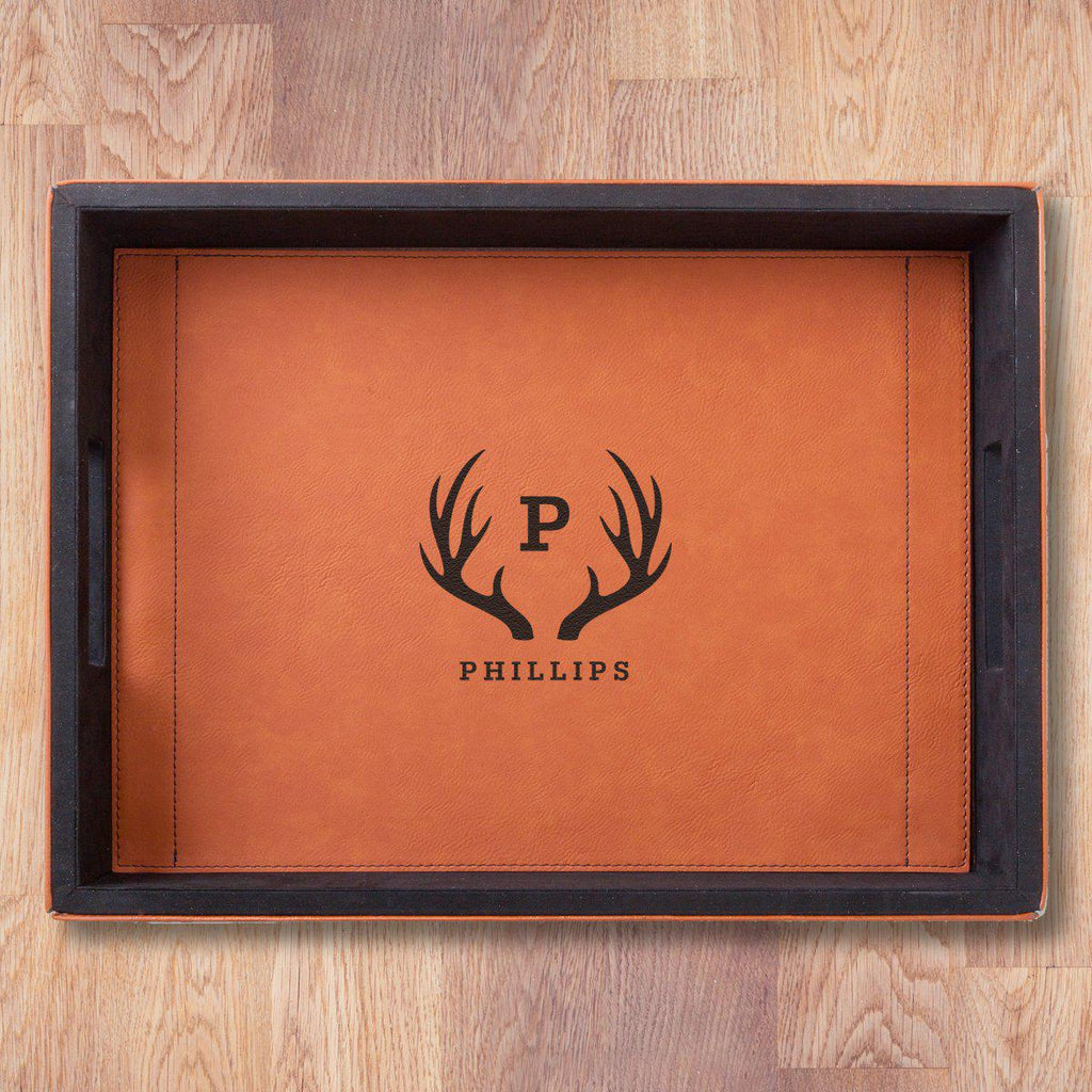 Personalized Serving Tray - Rawhide