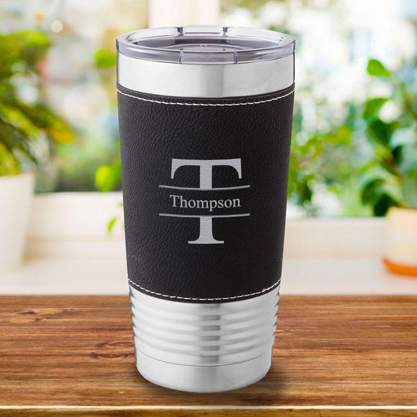 Personalized Black 20 oz. Travel Tumbler
