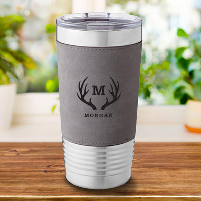 Personalized Gray 20 oz. Travel Tumbler