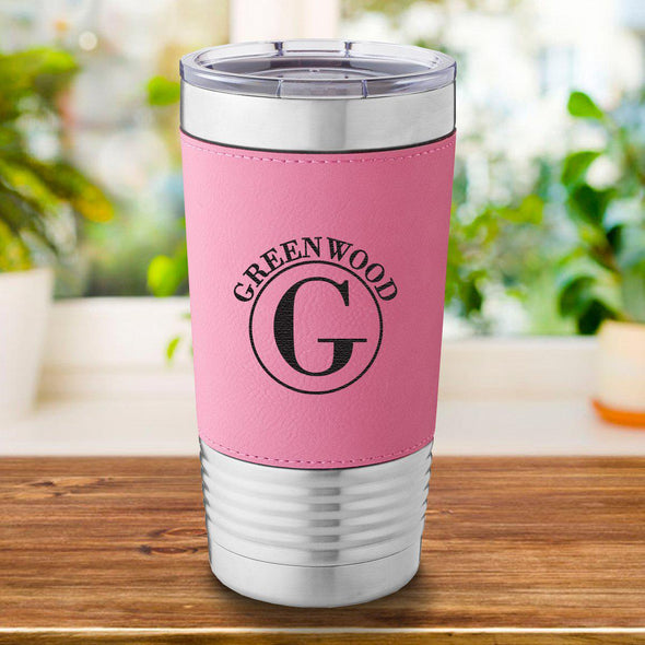Personalized Pink 20 oz. Travel Tumbler
