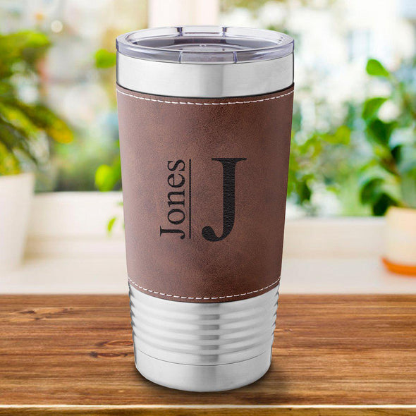 Personalized Rustic 20 oz. Travel Tumbler