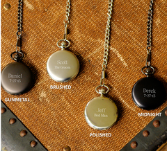 Engraved Pocket Watch - Personalized - Groomsmen Gifts -Groomsmen Gifts
