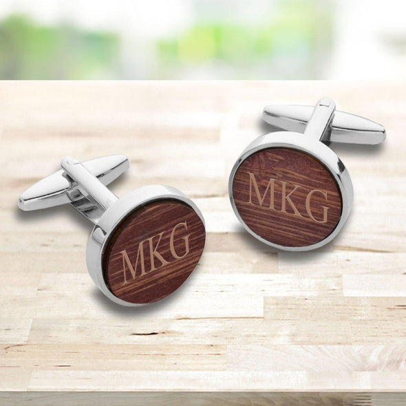 Personalized Wooden Walnut Cufflinks