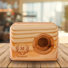 Personalized Wooden Phone Speaker - Cell Phone Speaker-Travel Gifts-JDS.com-Antlers-