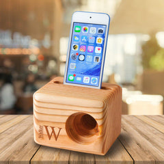Personalized Wooden Phone Speaker - Cell Phone Speaker-Travel Gifts-JDS.com-Choose Design-