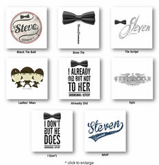 Custom Groomsmen T-Shirts Designs