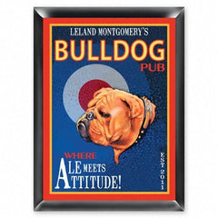 Personalized Bar Signs - Traditional - Groomsmen Gifts-Ale - Bulldog-