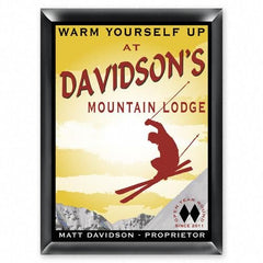 Personalized Bar Signs - Traditional - Groomsmen Gifts-Ski lodge-