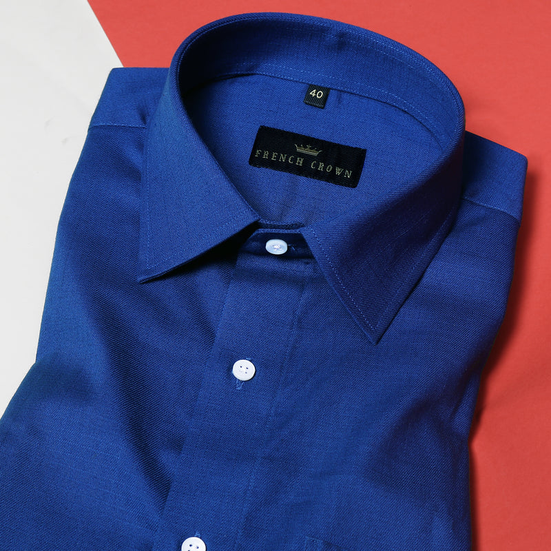 Royal Blue Thick Oxford Shirt