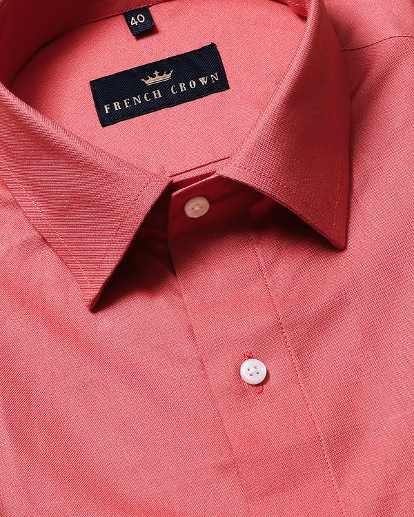 Pink Thick Oxford Shirt