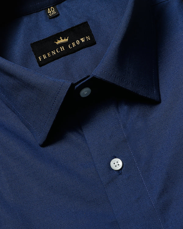 Presidential Blue Thick Oxford Shirt