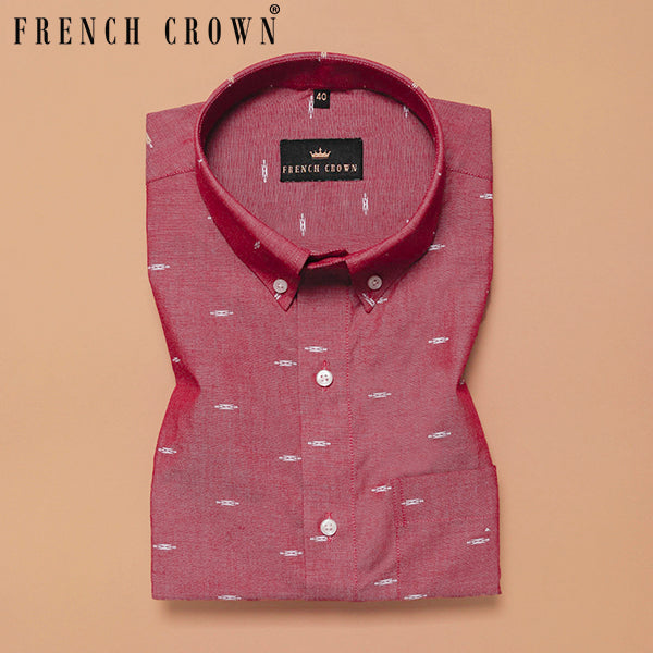 Brick Red Printed Ultra Soft Cotton SHIRT