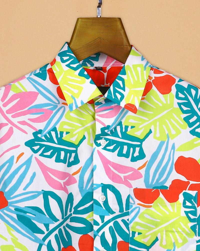 Vibrant Painting Print Premium Cotton Shirt