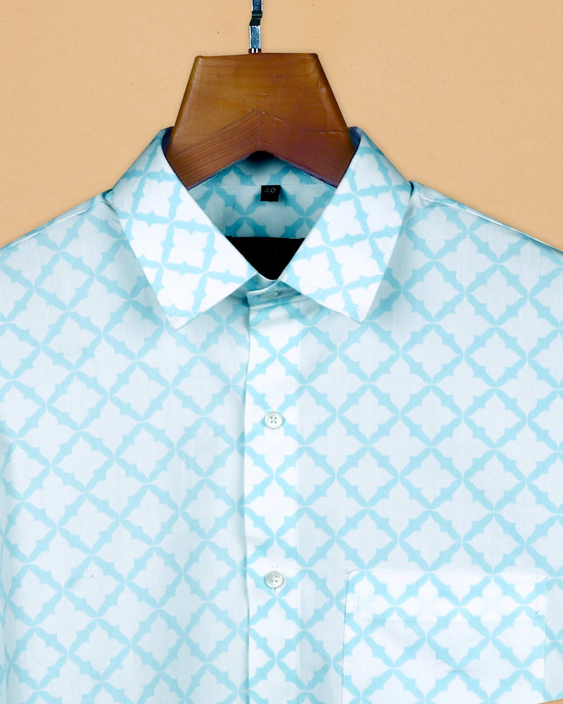 Bright White Printed Mid-weight Royal Oxford Shirt