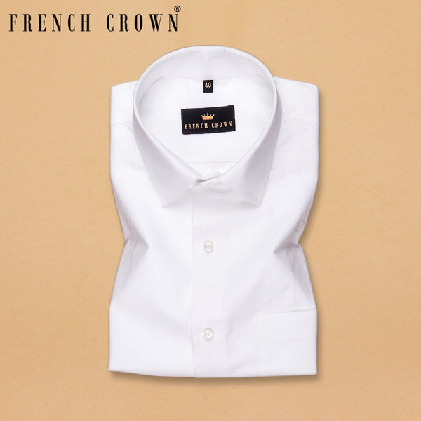 Bright White luxurious Linen Shirt