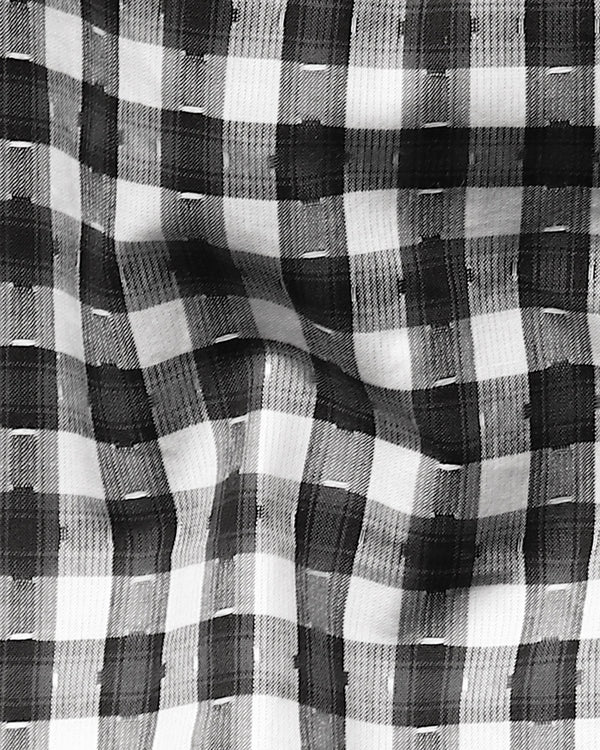 Grey Checked Giza Cotton shirt