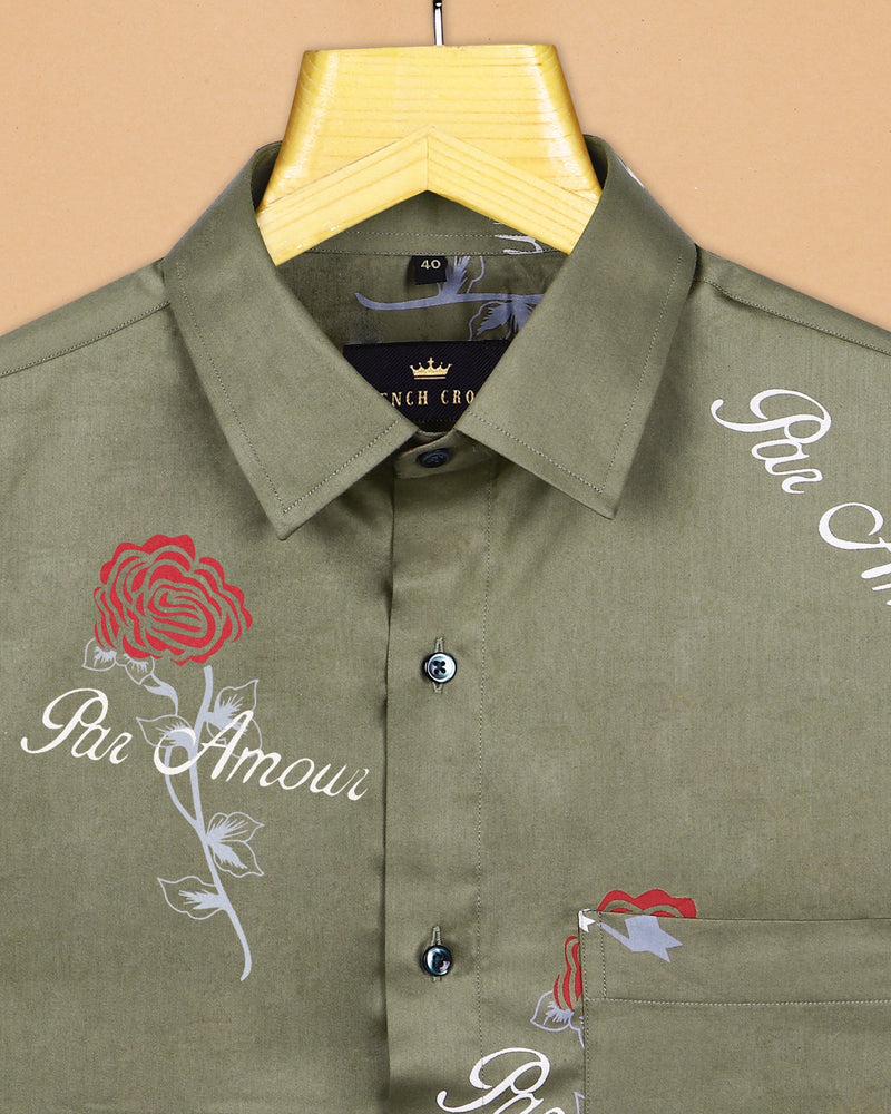 The Par Amour with Rose Print Super Soft Giza Cotton SHIRT