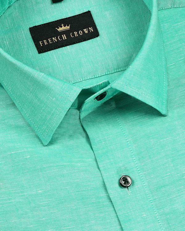 Mint luxurious Linen Shirt