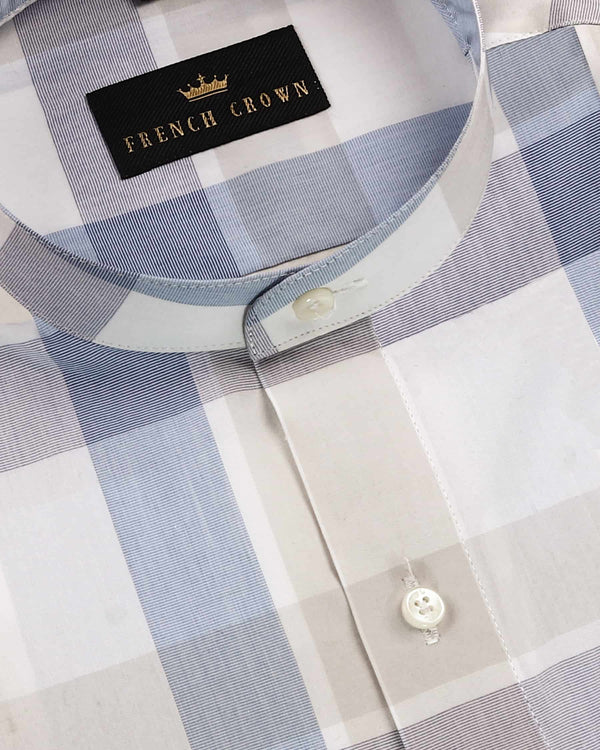 Muted Colours Checked Premium cotton Shirt
