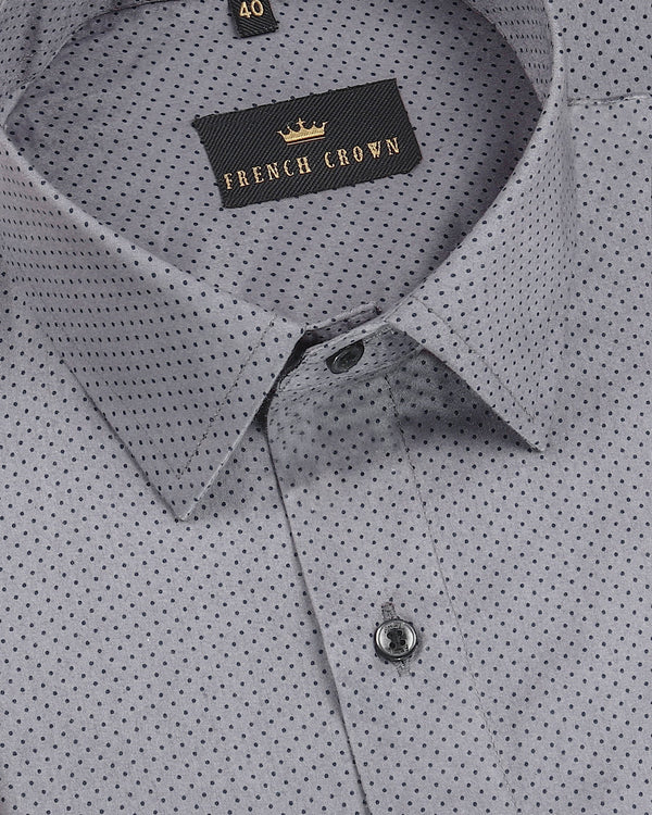 Grey Deco Dotted Ultra soft Shirt