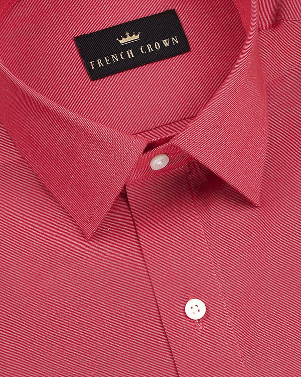 Raspberry Red Crisp Cotton Shirt
