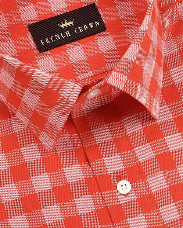 Candy Apple Gingham Premium cotton Shirt