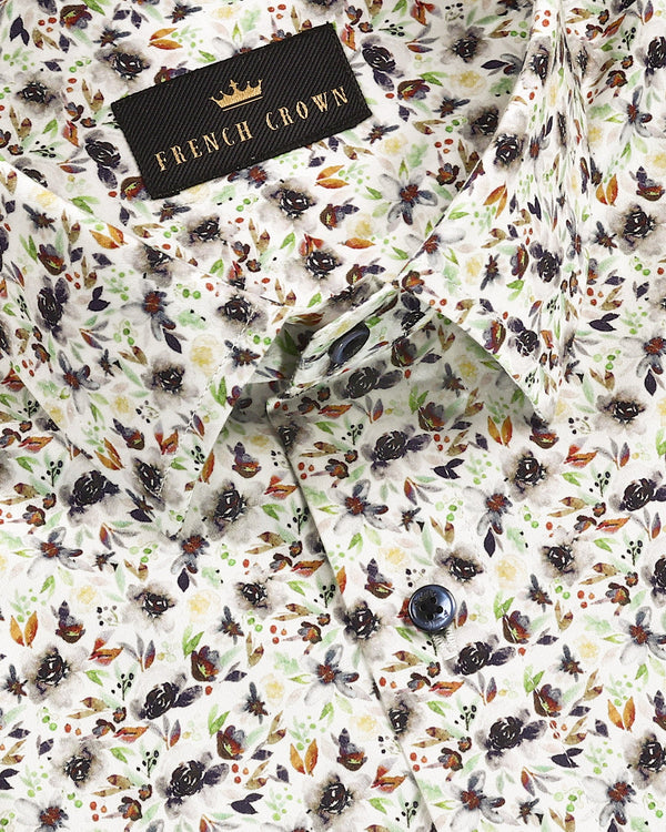 Multicolor Flower Petal Digital Print Super Soft Giza Cotton SHIRT