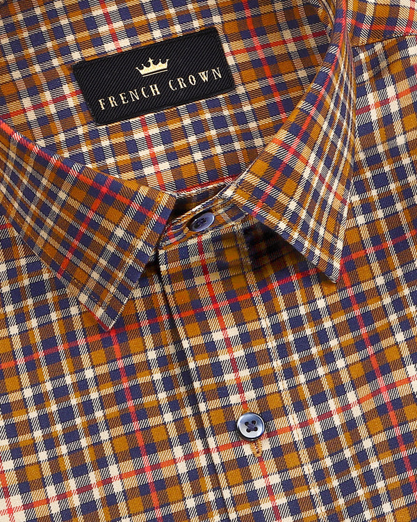 Brown Gingham Ultra soft Giza Cotton SHIRT
