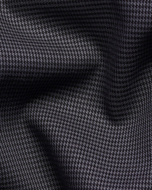 Iron Grey houndstooth shirt