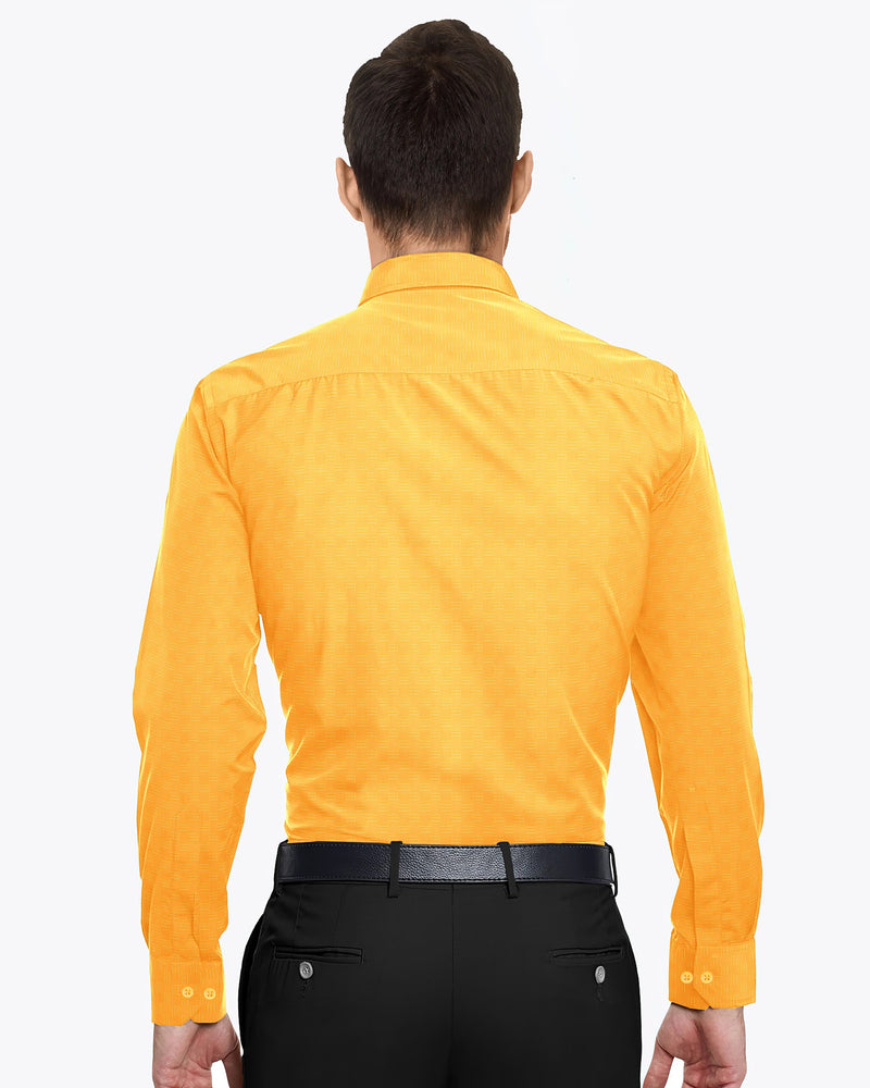 Mustard Diamond Dobby Giza Cotton shirt