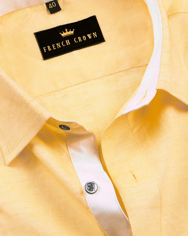 Sunshine Yellow luxurious Linen Shirt