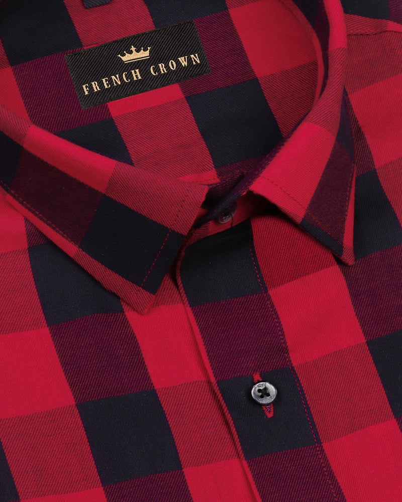 Red and Black Checked Ultra Soft Cotton SHIRT