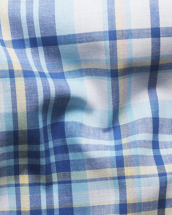 Bright Plaid Luxurious Linen Shirt