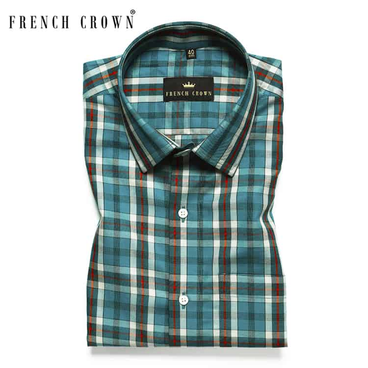 Green Tartan Premium Cotton SHIRT