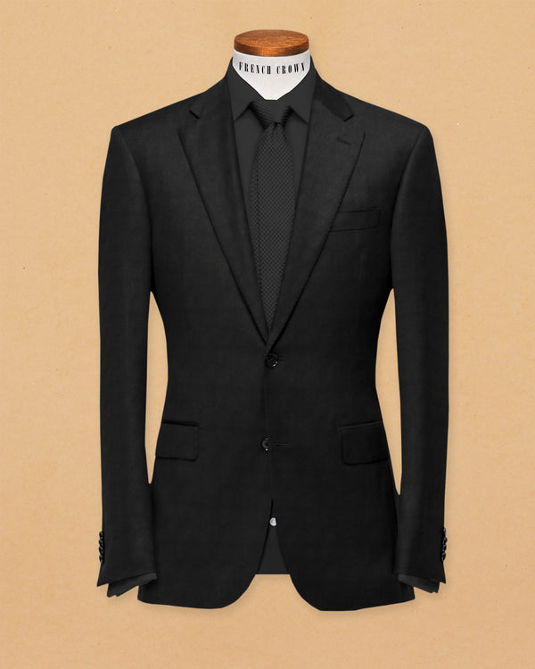 Jade Black Wool Blazer