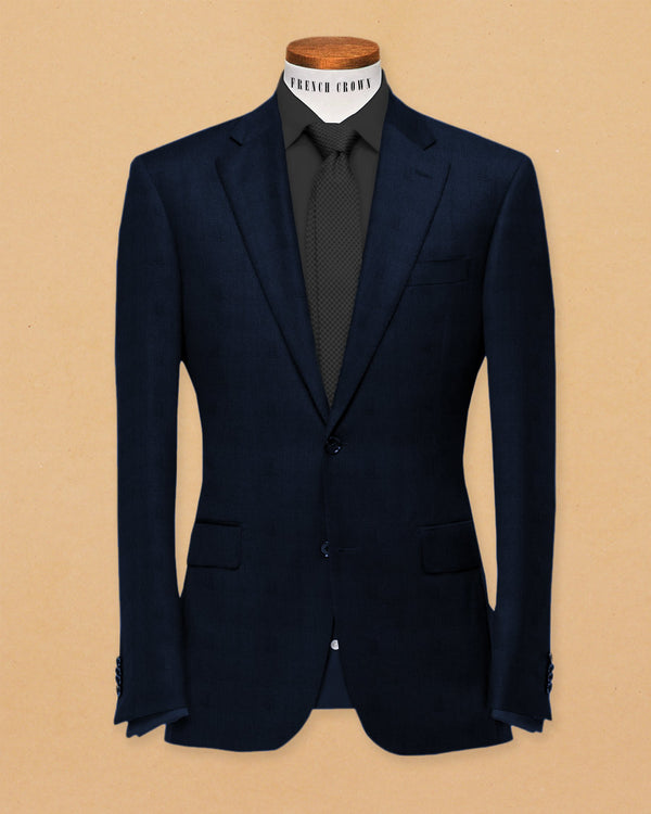Navy Linen Performance Blazer