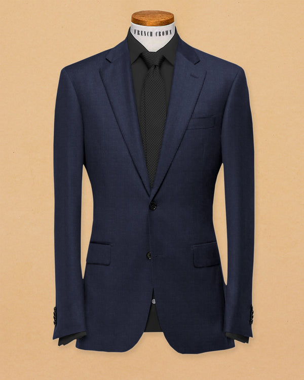 Berry Blue Linen Performance Blazer