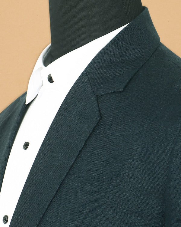 Emerald Green Linen Performance Blazer