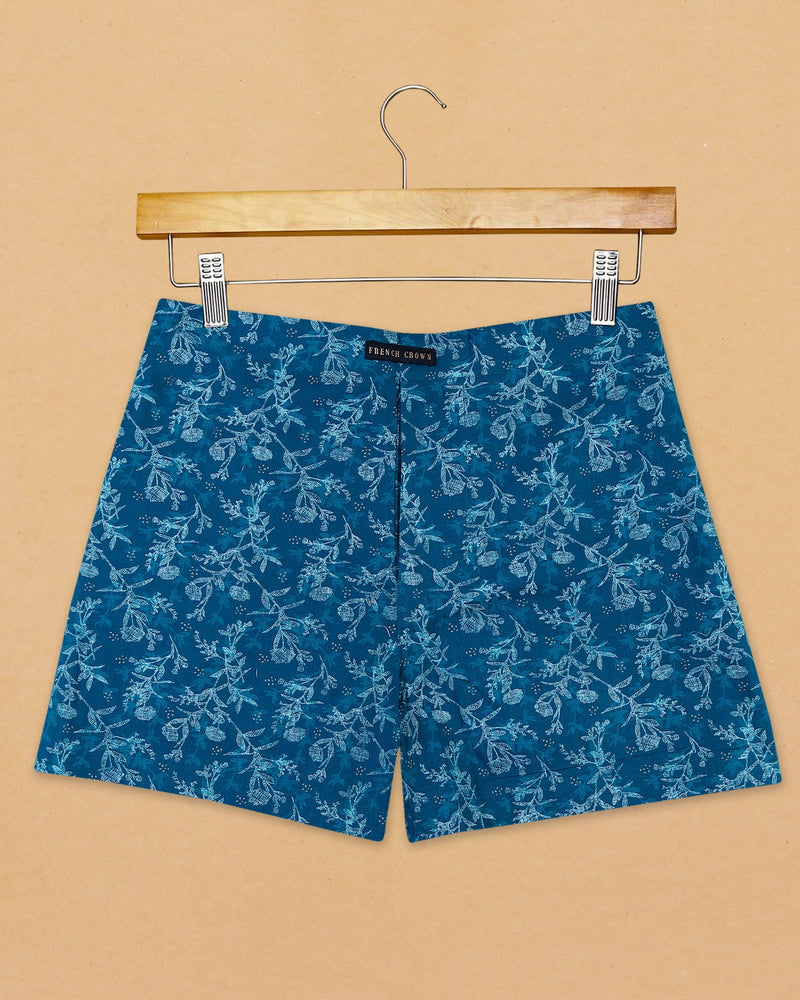 Navy flowers Printed Linen Boxer and White Bricks Game Printed Cotton Boxer